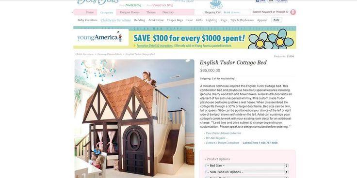 VELDIG FANCY: I utlandet finner man enda større og mer fancy senger, men vil barnet ha et eget hus med seng på rommet må du ut med 35.000 dollar.
