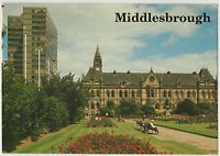 MIDDLESBROUGH TOWN HALL 1998 USED DENNIS POSTCARD STAMPED M027013L