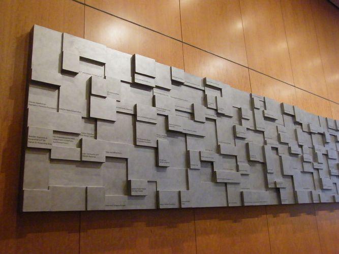 Donor Wall, Jewish Community Center, New York / Tobi Kahn / Fine Artists A-Z / Gallery / Chroma