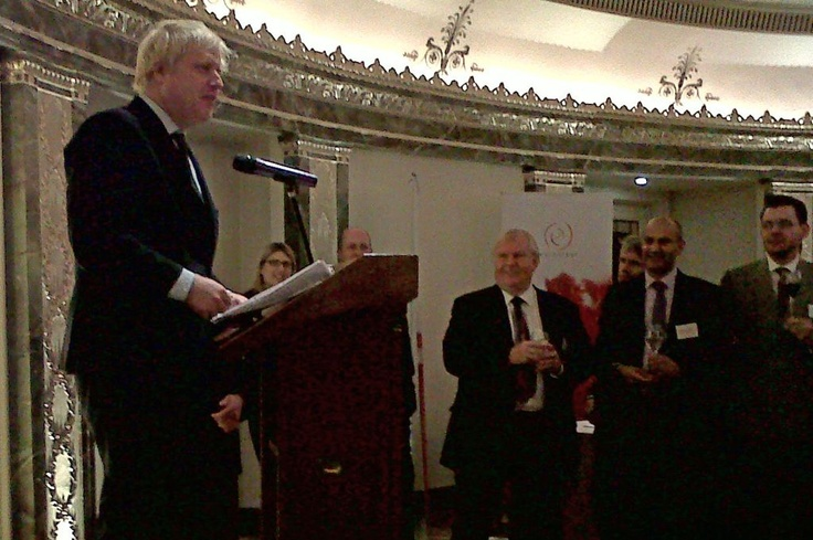 Boris using our microphone!!  Planning an event? Let us help you... www.istead.co.uk #events #conference #agm #dinner #gala #galadinner #theme #eventservices #eventprofessionals #AV #audiovisual #multimedia #design #eventproduction #sound #microphone #borisjohnson #politics