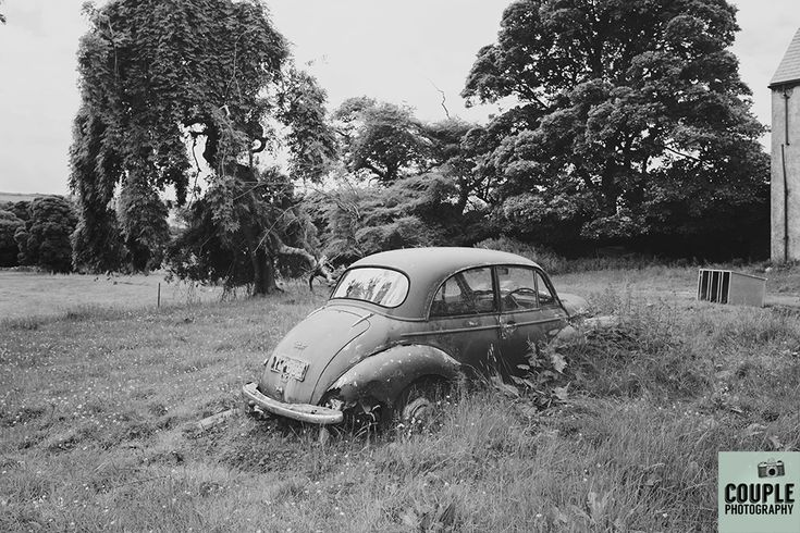 The old car. Weddings in Mayo, Photographed by Couple Photography.