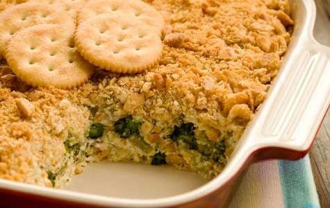 Cazuela de brócoli y champiñones al horno.