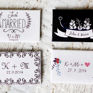 Pevné magnetky, hrúbka 3 mm, rozmer 8 x 5 cm s vlastným dizajnom, alebo s vlastnou fotkou.<br>Vhodné aj ako darček pre svadobčanov alebo minimalistick