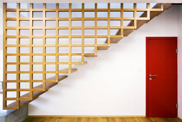 This definitely brings a grandmother peace of mind on staircases....: Stairs Railings Ideas 48, Stairca Ideas, Stairca Railings, House, Staircases Railings, Grid Stairs, Stairs Design, Wooden Staircases, Wooden Stairs