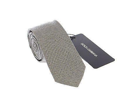 Gray Patterned Skinny Tie