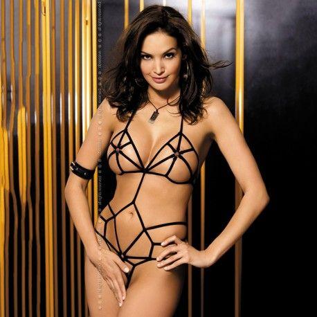 Pieza sexy hecha de correas suaves con la que ser una esclava sexual en el dormitorio.  Talla: S/M.