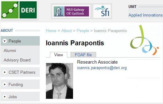 Research Associate @ Digital Enterprise   Research Institute of NUIG