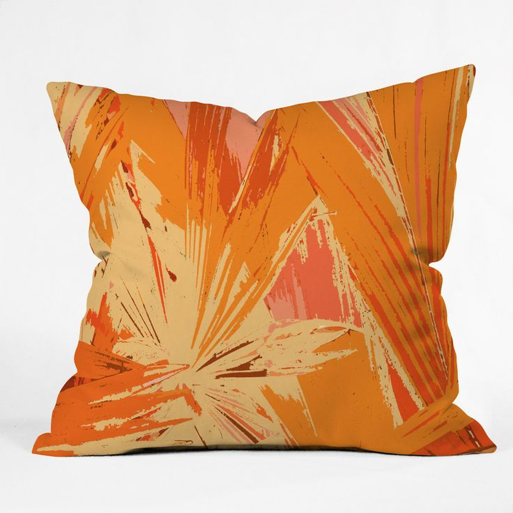 Rosie Brown Palm Explosion Throw Pillow | DENY Designs Home Accessories