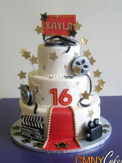 Pin Red Carpet Hollywood Cake Keywords Movie Reel On Pinterest cakepins.com