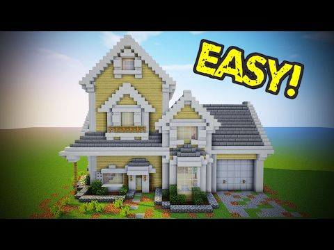 1601 best minecraft images on pinterest minecraft for Big modern house tutorial