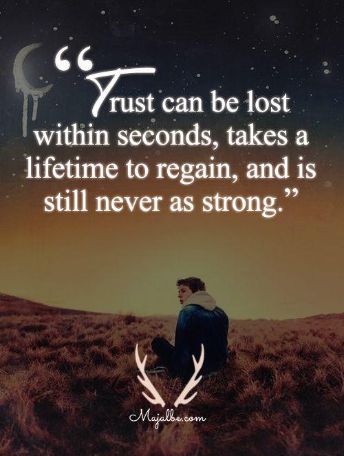 Broken Trust Love Quotes
