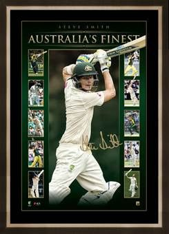 Steve Smith signed lithograph #cricket #cwc15 #stevesmith http://www.sportsstarsandlegends.com.au/collections/cricket-memorabilia/products/australia-s-finest-steve-smith-personally-signed-vertiramic