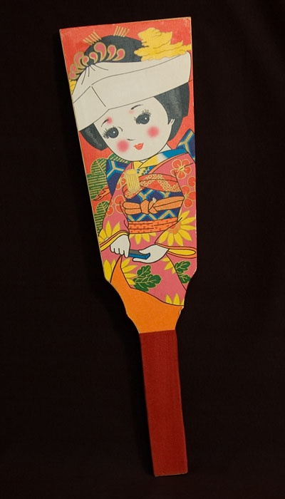 Japanese hanetsuki is like badminton..this paddle is called a hagoita.