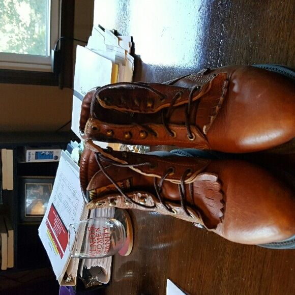 Justin work boot Cowboy boots very comfortable worn 1 time Justin Shoes Lace Up Boots