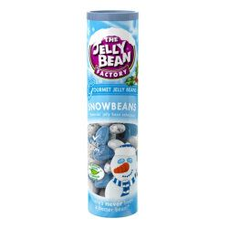 Jelly Bean Factory Snowbeans Gourmet Jelly Beans are a delicious Christmas treat and are absolutely perfect as a stocking filler. Each 100g Christmas themed tube is packed with Jelly Bean Factory's best jelly beans.