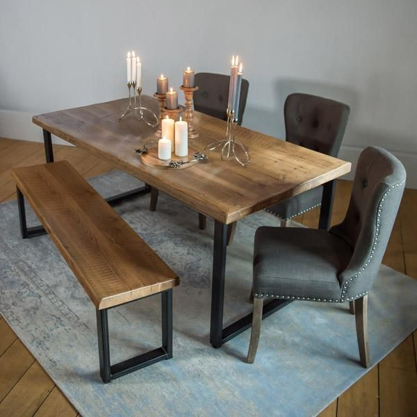 Kensington Reclaimed Wood Dining Table Wood Dining Table Dining