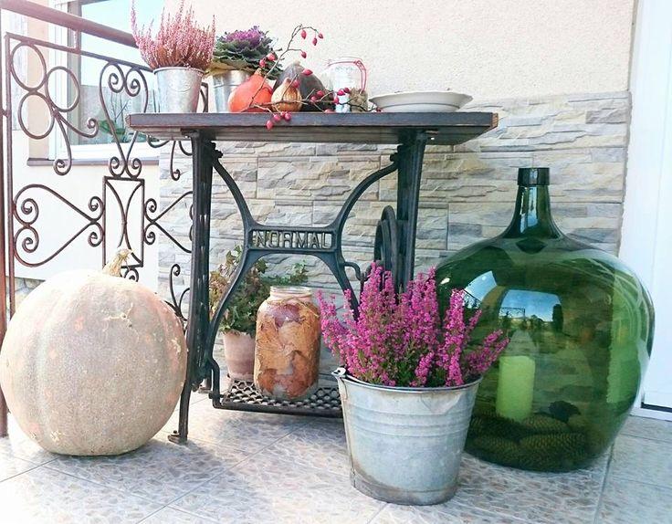 Őszi terasz hangulat....Autumn mood terrace ....