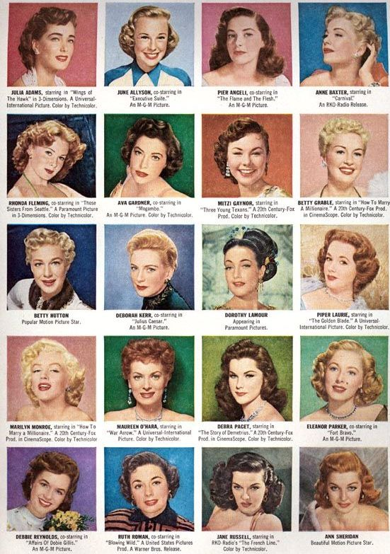 Retro Hair Chart.