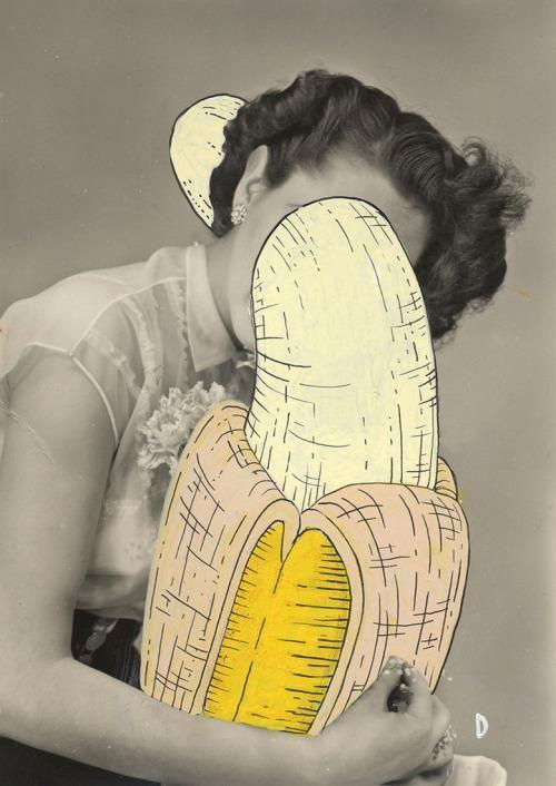 Beautiful jungle - uniposca on vintage photo - graphic designer and illustrator Diamante Beghetto