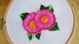 Hand Embroidery: Stump work (french knot) - YouTube