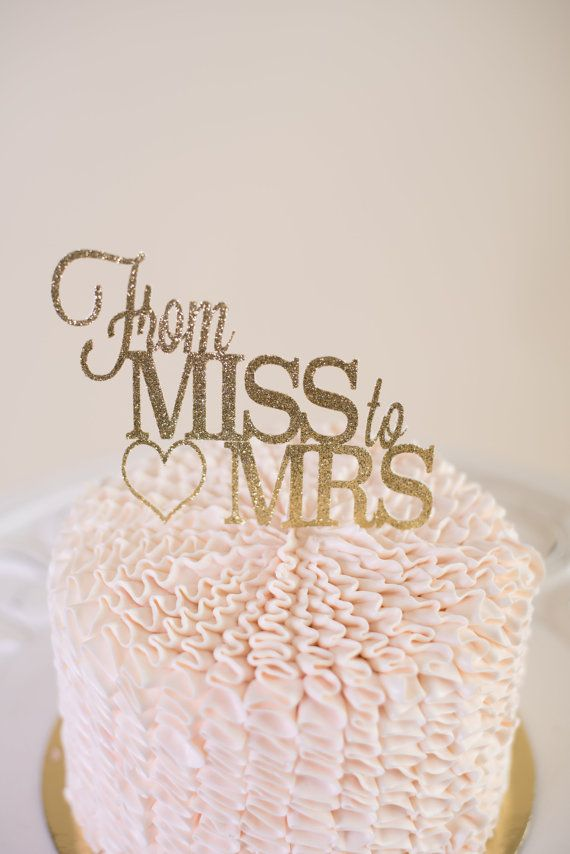 from miss to mrs cake topper bridal shower cake topper bride to be glitter cake topper she said yes cake topper