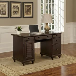 Shop for Home Styles Bermuda Pedestal Desk. Get free shipping at Overstock.com - Your Online Furniture Outlet Store! Get 5% in rewards with Club O!