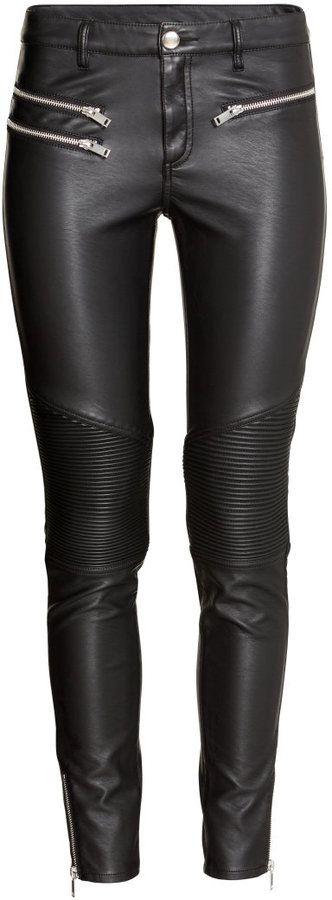 H&M Biker Pants - Black