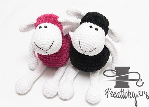 Háčkovaná ovečka – NÁVODY NA HÁČKOVÁNÍ