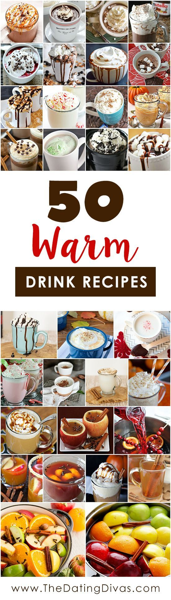 Delicious Warm Drink Recipes! Cozy Cocoa, Cider, and Steamer recipes for chilly days.