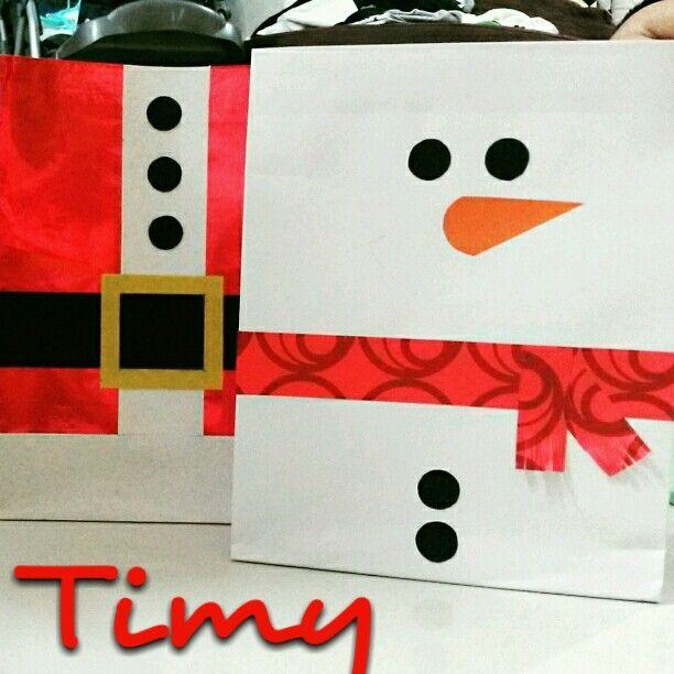 Bolsas de regalo para navidad bolsas de regalo - Postales navidenas creativas ...