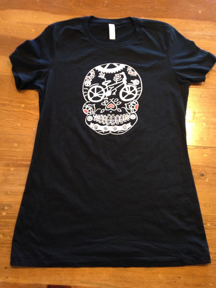 Ladies sugar skull bmx t shirts by dia de los bicycles #sugarskull #diadelosmuertos #dayofthedead #bmx #bmxshirt #bikeshirts https://www.etsy.com/shop/DiaDeLosBicycles