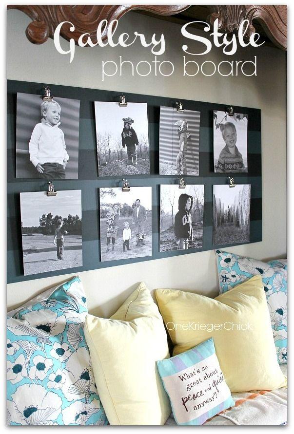 Gallery style photo board