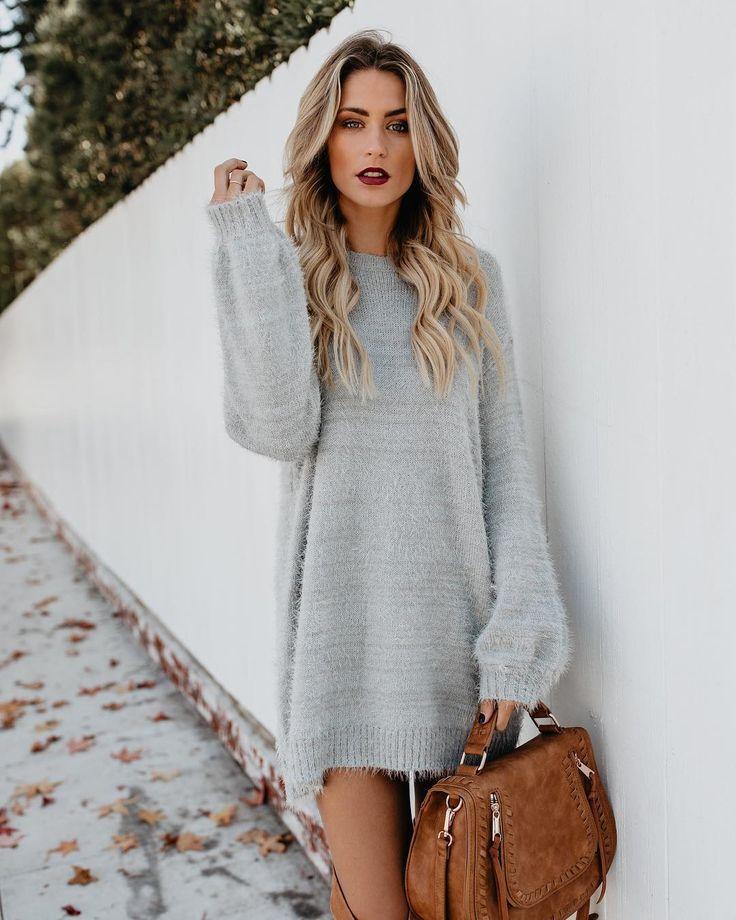 2eacc6468e Grey sweater dress