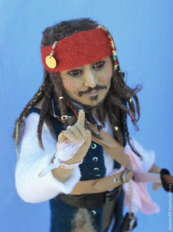 Купить Капитан Джек Воробей - разноцветный, джек воробей, капитан, пираты карибского моря, пират