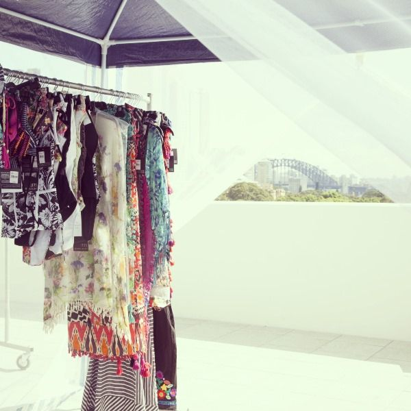 Garments hang waiting to be shot in the Vision Campaign 2013/14