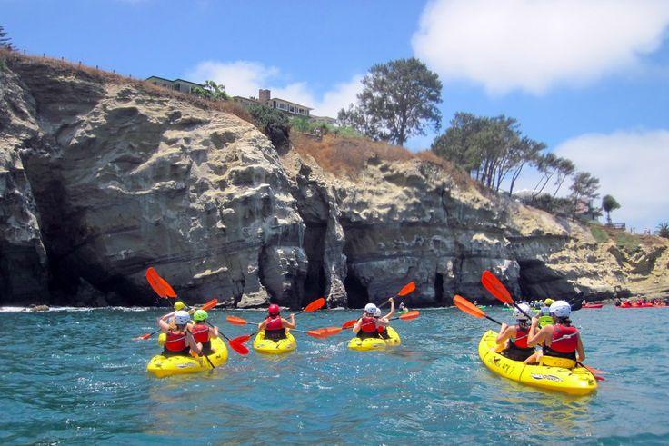 Kayaking in the la jolla caves san diego pinterest for La jolla fishing