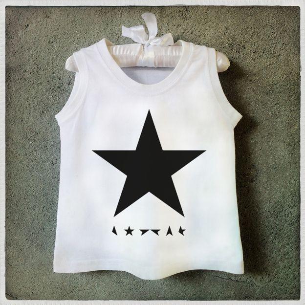Bowie Star t shirt  Regata estrela Bowie Camiseta infantil Graphic Tee