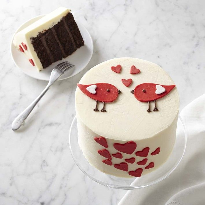 The 42 best red white pink a valentines day board images on love bird cake fandeluxe Gallery