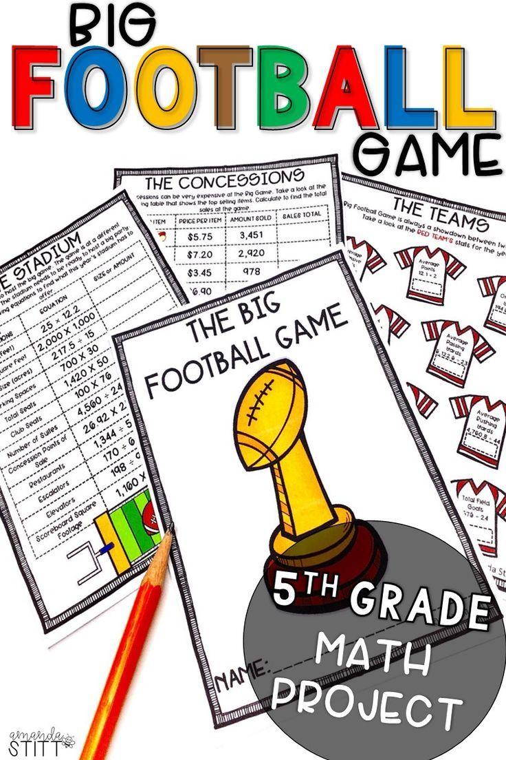 Digital Super Bowl Math Football Math Activity 5th Grade Math Projects Football Math Activities Elementary Math Projects [ 1104 x 736 Pixel ]