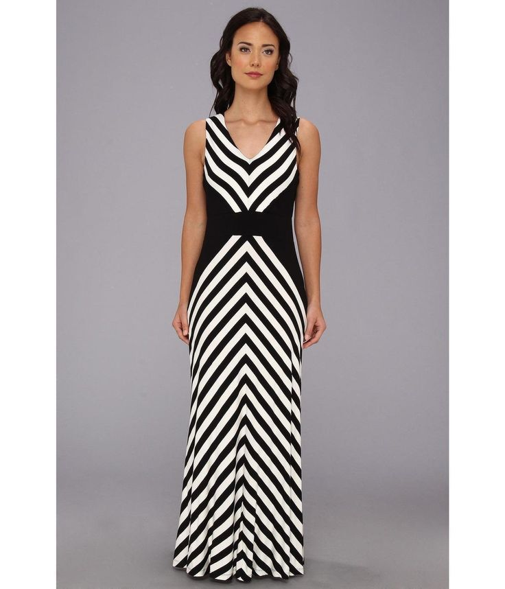 black-slash-white-mitered-striped-maxi-dress-
