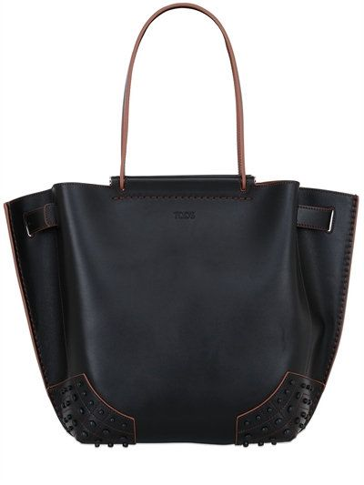 WAVE LEATHER TOTE BAG
