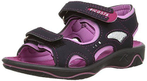 Ricosta Newa M 61, Chaussures aquatiques Fille: Ricosta Maedchen Sandalen ccandy/see, Synthetik, Weite M, PU-Sohle