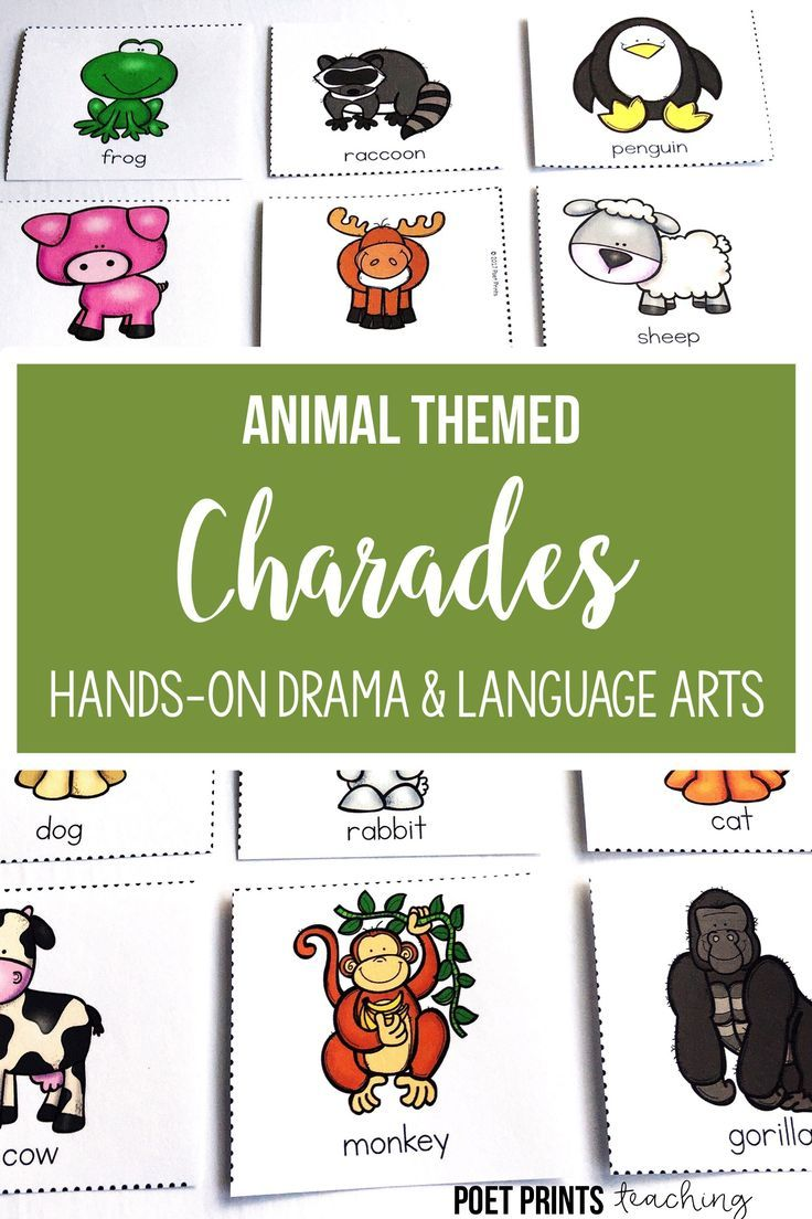 I love having fun with animal charades in first, second, third, and fourth grade. I use them as a quick game to help students build confidence in front of the class, to develop speaking and listening skills, and as a literacy center activity.