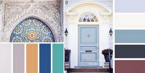 Сочетание синий и белый