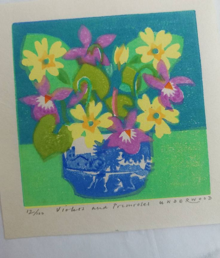 176 vind-ik-leuks, 11 reacties - Matthew Underwood (@mattunderwood_6) op Instagram: 'Shipping today.. Violets and Primroses. #woodblockprint #printforsale #print #mattunderwood_6 #arte…'