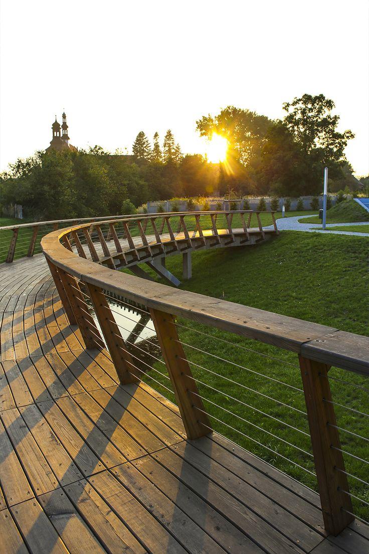 #Architektura w #KazimierzBiskupi - #park. #Pomost. // #Architecture in Kaziemierz Biskupi, #Poland - #park #bridge