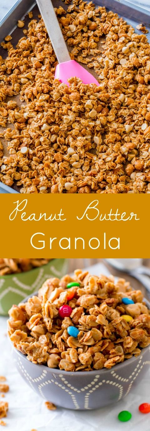 If you love peanut butter, this simple and healthy peanut butter granola is for you!