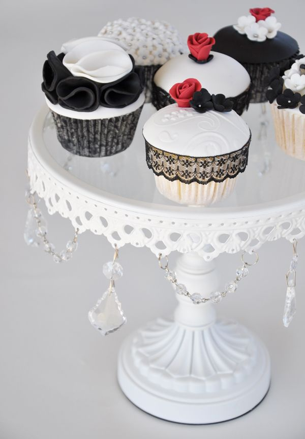 White cupcakes, Cupcake and Black white on Pinterest
