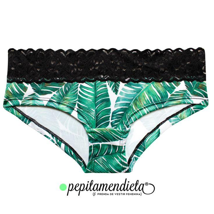 Leaves print Undies, by Pepitamendieta. Instagram: PepitamendietaUnderwear