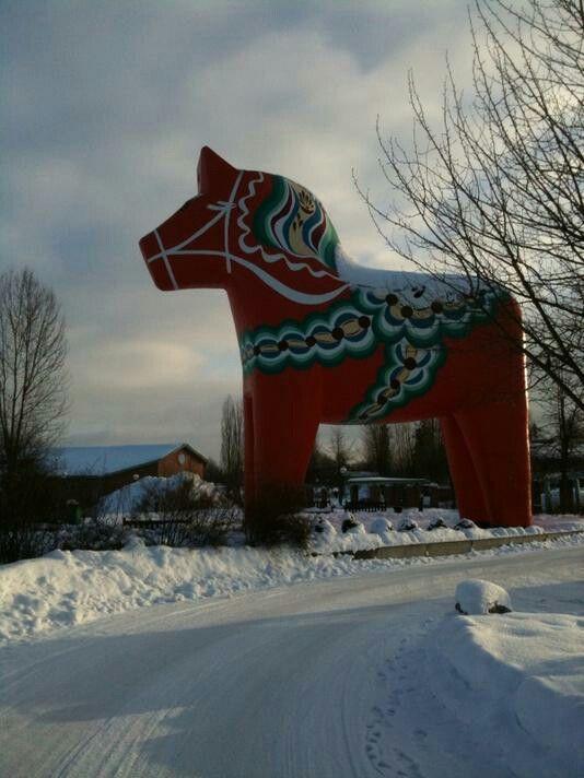 Världens största Dalahäst, Mora Sweden/The world's largest Dala horse, Mora Sweden.